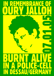 In Remembrance of Oury Jalloh
